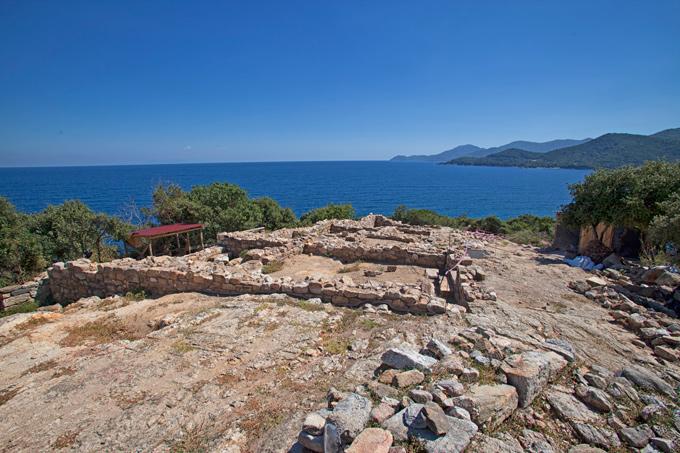 Χώρος ανασκαφής στα αρχαία Στάγειρα